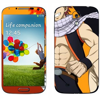 Виниловая наклейка «Нацу против Грея» на телефон Samsung Galaxy S4