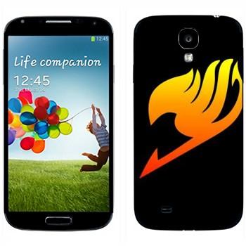 Виниловая наклейка «Огненный логотип» на телефон Samsung Galaxy S4