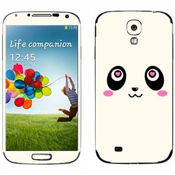 Виниловая наклейка «Панда Kawaii» на телефон Samsung Galaxy S4