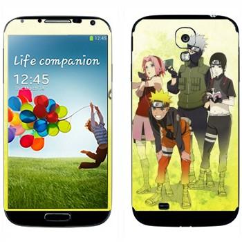 Виниловая наклейка «Персонажи из Наруто» на телефон Samsung Galaxy S4