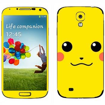 Виниловая наклейка «Пикачу - покемон» на телефон Samsung Galaxy S4