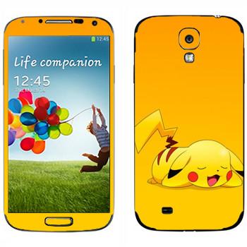 Виниловая наклейка «Пикачу спит» на телефон Samsung Galaxy S4
