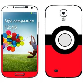 Виниловая наклейка «Покебол» на телефон Samsung Galaxy S4