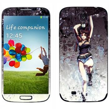 Виниловая наклейка «Реви - Черная лагуна» на телефон Samsung Galaxy S4
