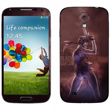 Виниловая наклейка «Реви - Пираты «Чёрной лагуны»» на телефон Samsung Galaxy S4