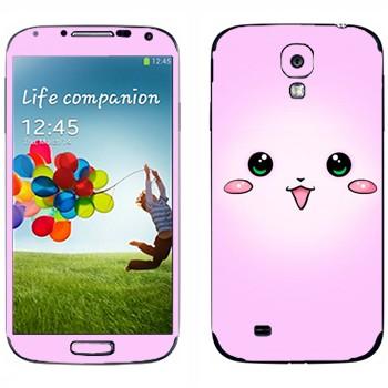 Виниловая наклейка «Розовый кролик - Kawaii» на телефон Samsung Galaxy S4