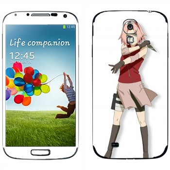 Виниловая наклейка «Сакура Харуно - Наруто» на телефон Samsung Galaxy S4