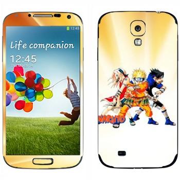 Виниловая наклейка «Сакура, Наруто, Саскэ» на телефон Samsung Galaxy S4