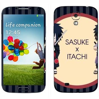 Виниловая наклейка «Саске и Итачи - Наруто» на телефон Samsung Galaxy S4