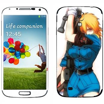 Виниловая наклейка «Серас Виктория - Хеллсинг» на телефон Samsung Galaxy S4