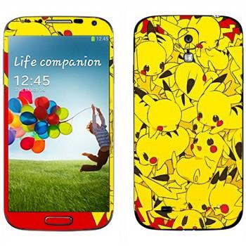 Виниловая наклейка «Сердце из Пикачу» на телефон Samsung Galaxy S4