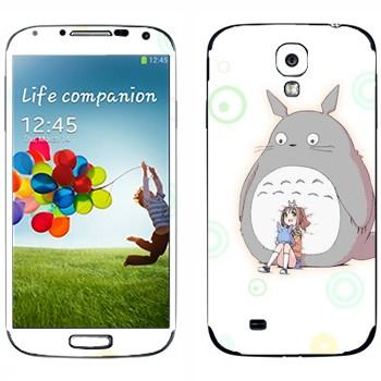 Виниловая наклейка «Тоторо и Сатсуки Кусакабэ» на телефон Samsung Galaxy S4