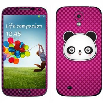 Виниловая наклейка «Веселая панда - Kawaii» на телефон Samsung Galaxy S4