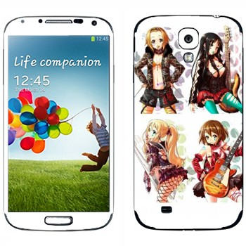 Виниловая наклейка «Юи Хирасава, Мио Акияма, Рицу Тайнака, Цумуги Котобуки - K-on» на телефон Samsung Galaxy S4