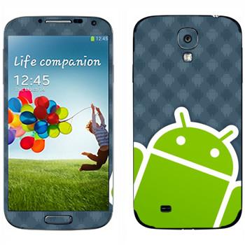 Виниловая наклейка «Android логотип» на телефон Samsung Galaxy S4