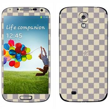 Виниловая наклейка «LV Damier Azur белый» на телефон Samsung Galaxy S4