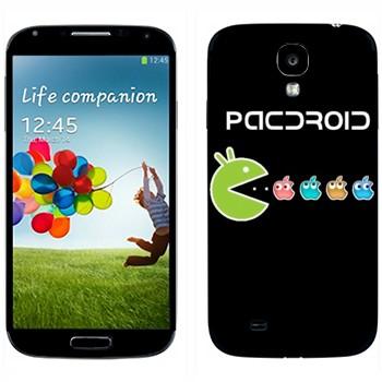 Виниловая наклейка «Pacdroid» на телефон Samsung Galaxy S4