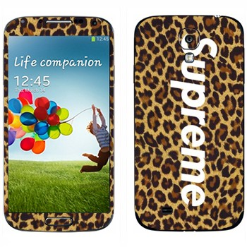 Виниловая наклейка «Supreme леопард» на телефон Samsung Galaxy S4