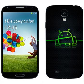 Виниловая наклейка «Дроид Android» на телефон Samsung Galaxy S4