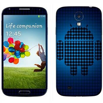 Виниловая наклейка «Эмблема Android из маленьких андроидов» на телефон Samsung Galaxy S4
