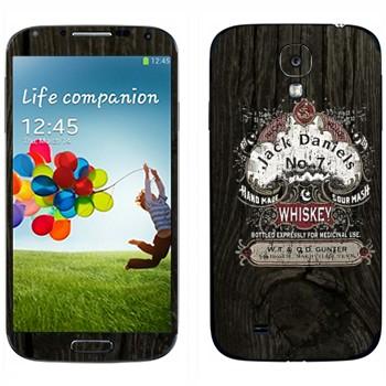 Виниловая наклейка «Эмблема Jack Daniels на дубовой бочке» на телефон Samsung Galaxy S4