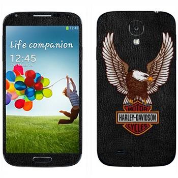 Виниловая наклейка «Harley-Davidson Motor Cycles» на телефон Samsung Galaxy S4