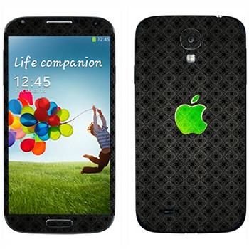 Виниловая наклейка «Лого Apple зеленое стекло» на телефон Samsung Galaxy S4