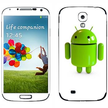 Виниловая наклейка «Логотип Android в 3D» на телефон Samsung Galaxy S4