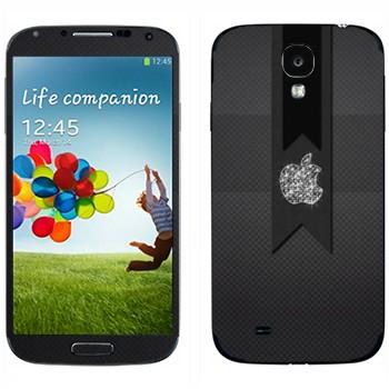 Виниловая наклейка «Логотип Apple алмазный» на телефон Samsung Galaxy S4