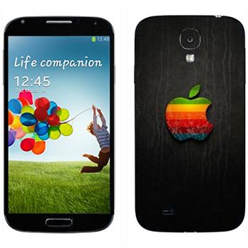 Виниловая наклейка «Логотип Apple радужное яблоко» на телефон Samsung Galaxy S4