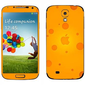 Виниловая наклейка «Логотип Apple сырный» на телефон Samsung Galaxy S4