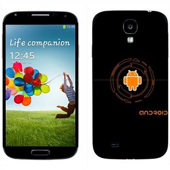 Виниловая наклейка «Оранжевый Android» на телефон Samsung Galaxy S4