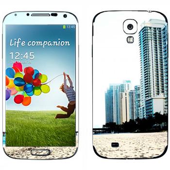 Виниловая наклейка «Белоснежный пляж Майами» на телефон Samsung Galaxy S4