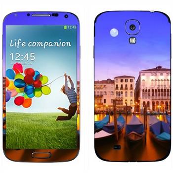 Виниловая наклейка «Гондолы - Венеция» на телефон Samsung Galaxy S4