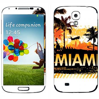 Виниловая наклейка «Горячие Майами» на телефон Samsung Galaxy S4