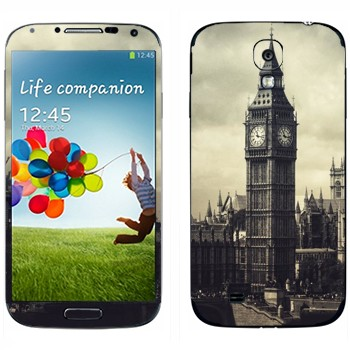 Виниловая наклейка «Лондонский Биг Бен» на телефон Samsung Galaxy S4