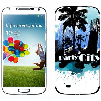 Виниловая наклейка «Майами - город вечеринок» на телефон Samsung Galaxy S4