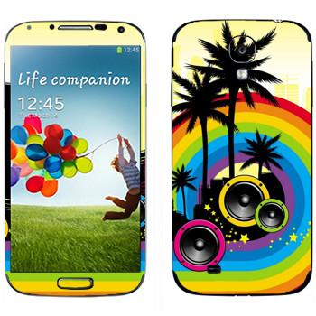 Виниловая наклейка «Музыкальный Майами» на телефон Samsung Galaxy S4