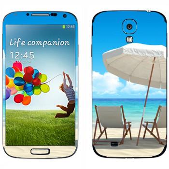 Виниловая наклейка «На пляже Майами» на телефон Samsung Galaxy S4