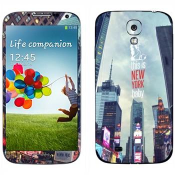 Виниловая наклейка «Нью-Йорк Таймс-сквер» на телефон Samsung Galaxy S4
