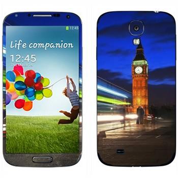 Виниловая наклейка «Ночной Биг Бен в Лондоне» на телефон Samsung Galaxy S4