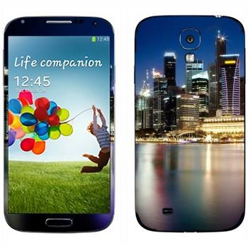 Виниловая наклейка «Ночной Нью-Йорк» на телефон Samsung Galaxy S4