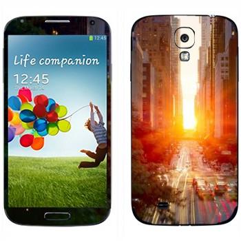 Виниловая наклейка «Нью-Йорк» на телефон Samsung Galaxy S4