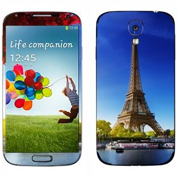 Виниловая наклейка «Париж - Эйфелева башня» на телефон Samsung Galaxy S4