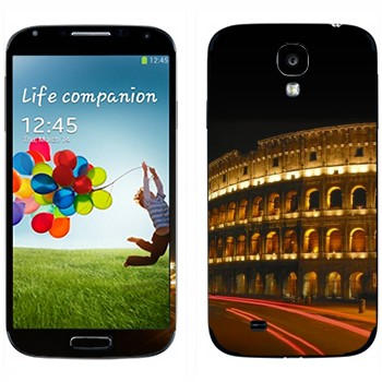 Виниловая наклейка «Римский Колизей ночью» на телефон Samsung Galaxy S4