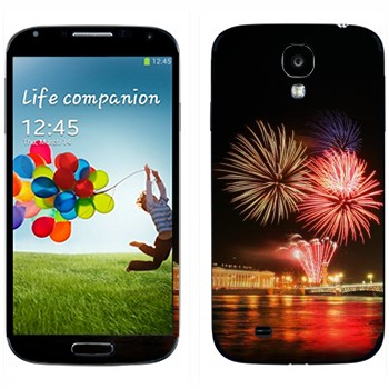 Виниловая наклейка «Санкт-Петербург салют» на телефон Samsung Galaxy S4