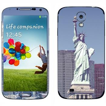 Виниловая наклейка «Статуя Свободы  - Нью-Йорк» на телефон Samsung Galaxy S4