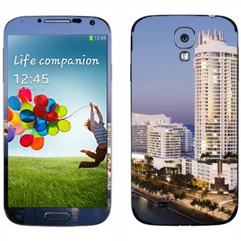 Виниловая наклейка «Вид на Майами» на телефон Samsung Galaxy S4