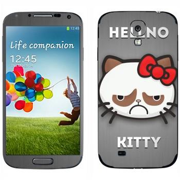 Виниловая наклейка «Hellno Kitty» на телефон Samsung Galaxy S4