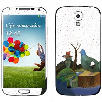 Виниловая наклейка «Kisung Story» на телефон Samsung Galaxy S4